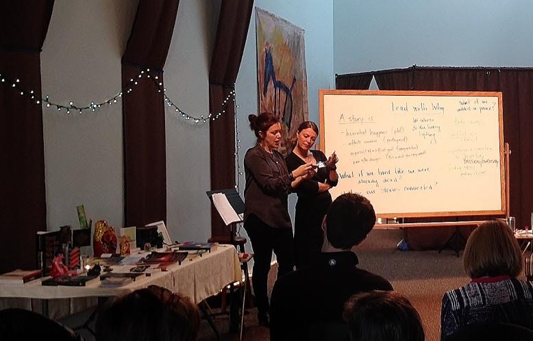 Jennifer Scanlon & Lori Eberly during Q&A